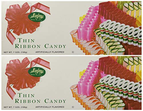 Price comparison product image Sevigny's Thin Ribbon Candy - Made in USA. 7 Oz. Box,  (2 Pack)