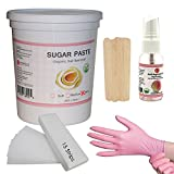 Sugaring Hair Removal Hard Paste for Bikini line, Brazilian, Underarms and Thick Hair Kit 1.3kg 45Oz – Includes – Sugaring Paste Jar, Anti-Ingrown Solution, Strips, Gloves and Applicators Review
