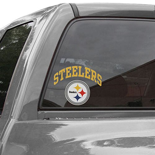 Pittsburgh Steelers 8 inch Arched Decal (Arched Decal)