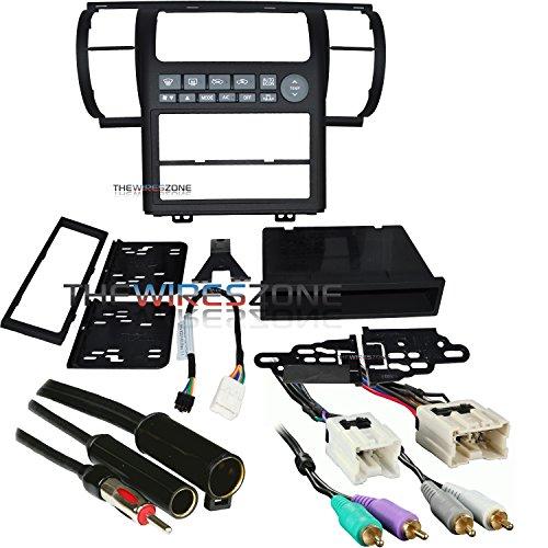 Metra 99-7604B Black Dash Kit for 03-04 Infiniti G35 + Harness + Antenna Adapter -