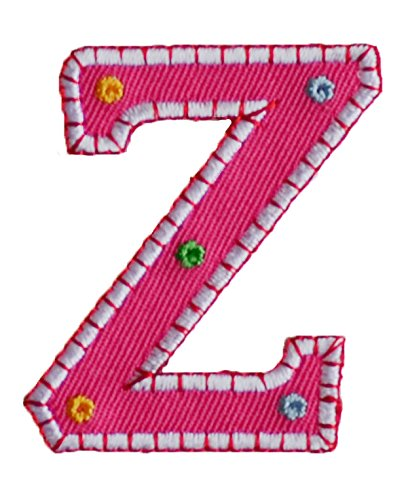 TrickyBoo Iron-On Letter Patch Craft Applique Z Pink 5Cm For Names Crafts  Jeans Clothing Fabric To Iron On Motifss Personalize Applique Sew On Iron  On