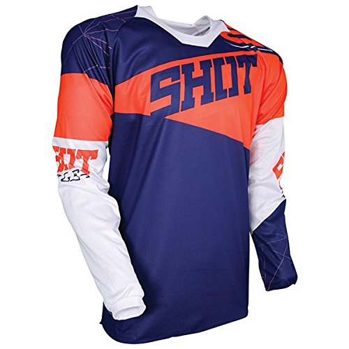 Shot Race Gear Contact Infinite Blue & Orange Jersey/ Pant Combo - Size X-LARGE/ 36W