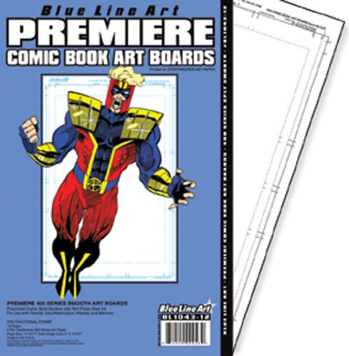 Full Trim Premiere Comic Book Art Boards 400 2ply Smooth 11x17 ()