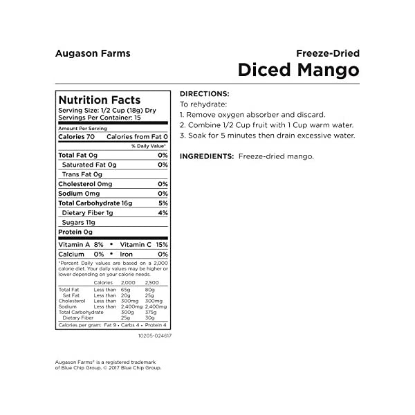 farm freeze dried mango