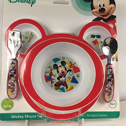Mickey Mouse Microwavable Plate Set]()