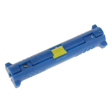 Herramienta de Estriptista de Cable coaxial de Color Azul