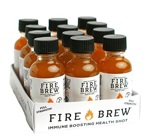 Fire Brew Apple Cider Vinegar Based Citrus Health Tonic, 12/1 oz Bottles