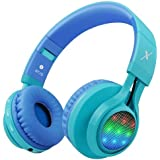 Riwbox WT-7S Bluetooth Headphones, LED Light Up Wireless Foldable Stereo Headset with Microphone