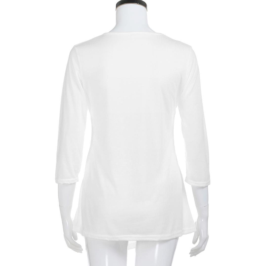 f3d81e8e28 Sexyville - Camiseta de manga larga - para mujer Blanco blanco  Amazon.es