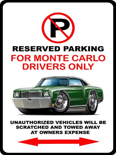 lo Muscle Car-toon No Parking Sign ()