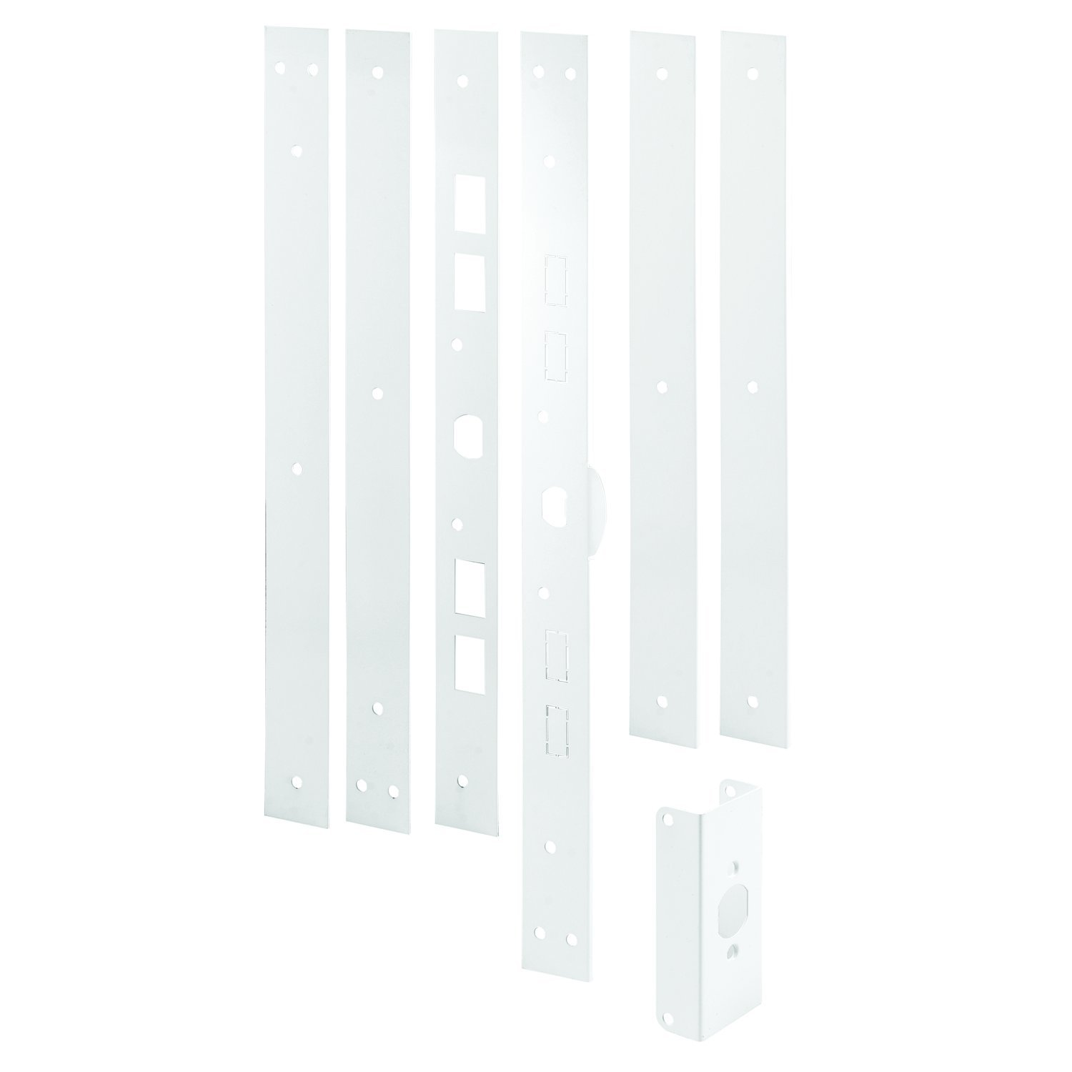 "Prime-Line U 11026 Jamb Repair and Reinforcement Kit, 59-1/2"" – Reinforce and Repair Door Jamb - Add Extra Security to Your Home to Help Prevent Forced Entry – Steel, Paintable White Finish"