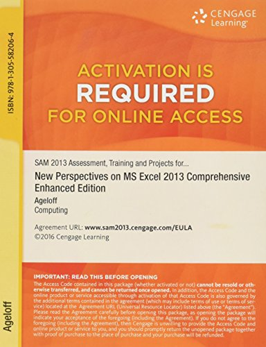 Training, and Projects with MindTap Reader,  v3.0 Multi-Term Printed Access Card for New Perspectives on Microsoft Excel 2013, Comprehensive Enhanced Edition ()