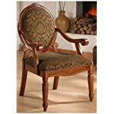 Arm Chairs- Create an Old World Style with This Beautifully Crafted Oval-tip Midnight