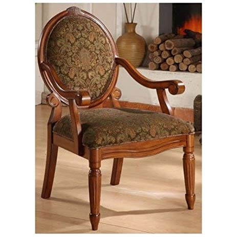 Arm Chairs- Create an Old World Style with This Beautifully Crafted  Oval-tip Midnight - Amazon.com - Arm Chairs- Create An Old World Style With This