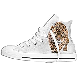 NAFQ Tiger Pattern Classic Canvas Sneakers Shoes Lace Up Unisex High Top