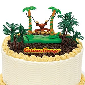 Curious George Train Cake Decoration Topper Kit