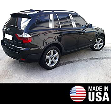 Para 2004 - 2010 BMW X3 10 PC acero inoxidable cromo pilar Post Trim: Amazon.es: Coche y moto