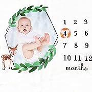 Baby Monthly Milestone Blanket Mermaid Photo Backdrop Props Newborn Infant Swaddling Blanket Personalized Keepsake Gift