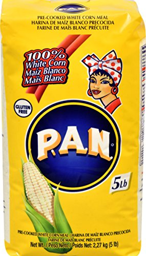 P.A.N. White Corn Meal - Pre-cooked Gluten Free and Kosher Flour for Arepas, 2.27 kg (5 lb) - Harina Pan Venezuela