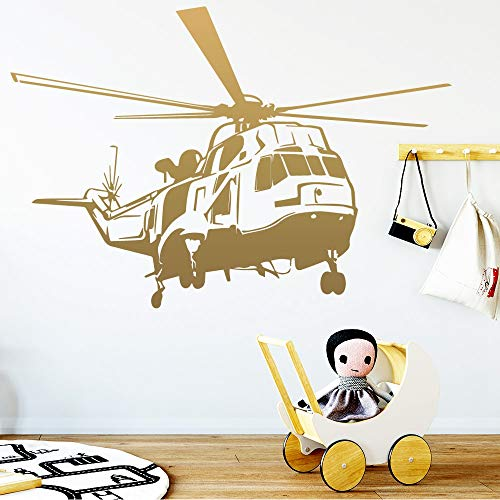 Drop Shipping Helicopter Wall Stickers Lover Home Decoration Accessories for Kids Rooms Decor Wall Decal Plane Sticker c2 57x83cm