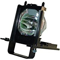 AuraBeam 915B455011 Replacement Lamp With Housing / Case for Mitsubishi TV Model WD-73640 WD-73740 WD-73C11 WD-73CA1 WD-82740 WD-82840 WD-82940 by AuraBeam