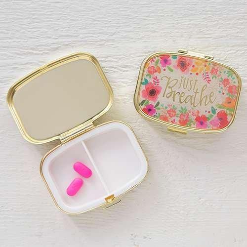 Natural Life Pill Case/Vitamins Organizer Pill Box- Just Breathe