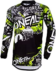 O'Neal Element Jersey Mannen aanval (zwart/hi-viz) 2020 Bike Jersey Longsleeve