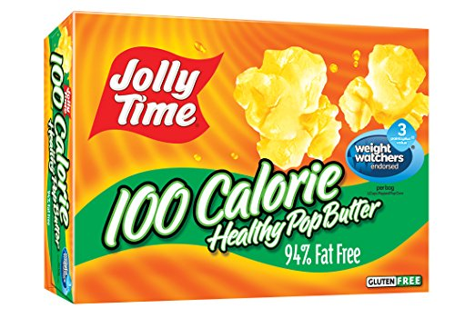 Jolly Time 100 Calorie Healthy Pop Butter Microwave Popcorn Mini Bags, 4-Count Boxes (Pack of (Mini Bags Microwave Popcorn)