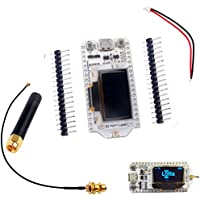 SX1276 LoRa Transceiver Module 868MHz 915MHz IOT 0.96inch OLED Display ESP32 Wifi Bluetooth Development Board + Antenna + JST Battery Connector for Arduino Nodemcu Geekstory