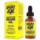 Gnarly Joe Unscented Beard Oil - 1oz | Best Argan & Jojoba Beard Oil | Natural Moisturizer, Softener & Leave-In Conditioner | For Full Beard Growth