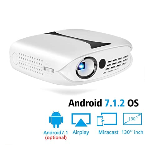 Proyector DLP para Full HD 1080P con WiFi Android 7.1 Teatro ...