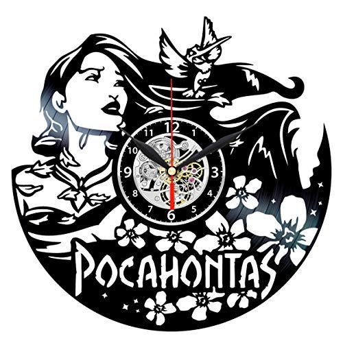 Queen Clocks Pocahontas Vinyl Record Wall Clock - Birthday Gift for Kids - Room Decor Ideas