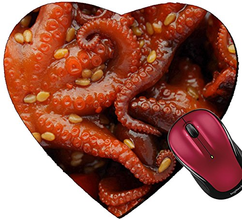 Liili Mousepad Heart Shaped Mouse Pads/Mat IMAGE ID: 6308953 Marinated baby octupuses ()
