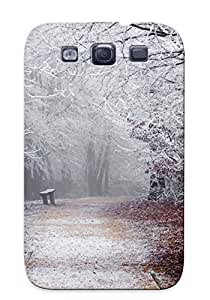 Protective Tpu Case With Fashion Design For Galaxy S3 (forest Winter)