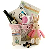 Baby Girl Gift Basket with Jemima Puddleduck Soft Toy from the World of Beatrix Potter - SGS-207 - Baby Hamper Includes a Keepsake Tin Money Box and Commemorative China Mug with the Words Gorgeous Baby Girl Also Includes Baby Record Book