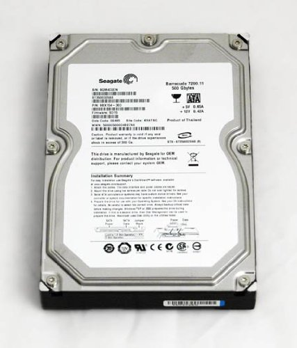 Seagate ST3500630AS 500GB SATA/300 7200RPM 16MB Hard Drive ()