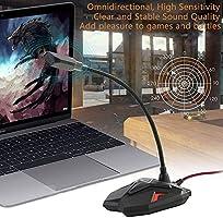 DDDF Micrófono USB del Ordenador con el botón de Silencio, Plug ...