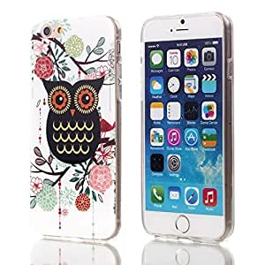 "Teenitor(TM)For iPhone 6 4.7""Inch TPU Case Stylish Bling Cute Black Owl King Cartoon Animal Soft TPU Protective Case"