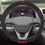 FANMATS  14804  NCAA University of Alabama Crimson Tide Polyester Steering Wheel Cover