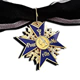 iron cross medal - GRAND Pour Le Merite 24k Gold Plated Cross Medal Blue Max Highest Honor + Ribbon Repro