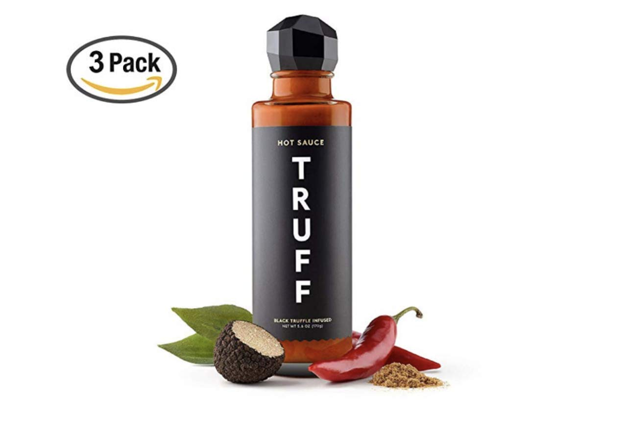 TRUFF Hot Sauce, Gourmet Hot Sauce with Ripe Chili Peppers, Black Truffle, Organic Agave Nectar, An ultra unique Flavor Experience in a 6 oz Bottle (3 Pack)