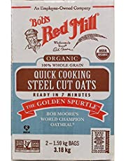 3,18kg. Bob's Red Mill Steel Cut Oats, Organic, 100% Whole Grain, Quick Cooking. (2x1,59kg. Bags)