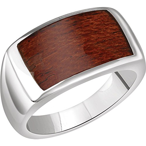 DiamondJewelryNY Rings, Sterling Silver Men's Rectangle Ring