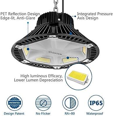 Anten 150W Campana LED Industrial 4000K 19500Lm, IP65 Foco Led Interior/Exterior Industrial, UFO Led de Alta Bahía para Almacén Comercial: Amazon.es: Bricolaje y herramientas