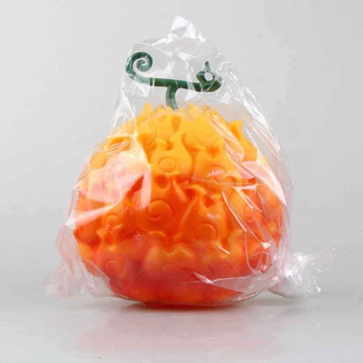 Fruit Chewing Mod/èle Figurines PVC Figurines Anime Fruit du D/émon pour La D/écoration Collection Jouets Cadeau Haut De 17 Cm Orange One Piece Anime Figures