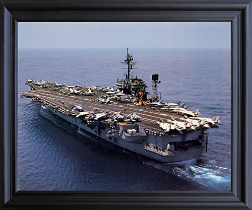 Aircraft Carrier USS Constellation Navy Ship Aviation Black Framed Wall Decor Picture Art Print (19x23)