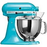 KitchenAid 5KSM150PSECL Robot culinaire Artisan à tête inclinable (Bleu cristal) (Import Allemagne)