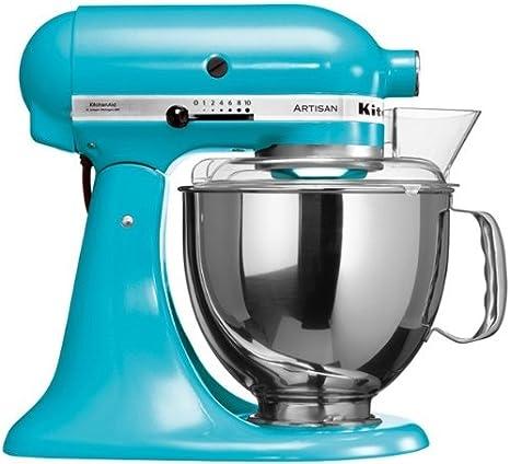 KitchenAid 5KSM150PSECL - Robot de cocina, motor de 300 vatios, capacidad de 5 l, 10 velocidades, color azul: Amazon.es: Hogar