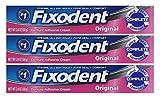 Fixodent Denture Adhesive Cream Original 2.4 oz Set of 3