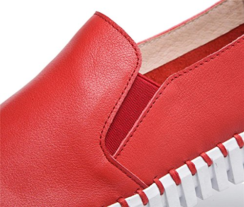 Uniques Femmes À Chaussures Flats Nouveaux Chaussures Douces Loisirs Dames Red Chaussures Pied fqnTw6Tx